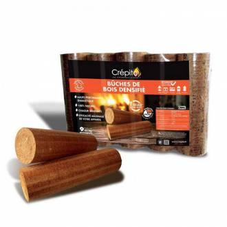 Bûche de bois densifié CREPITO